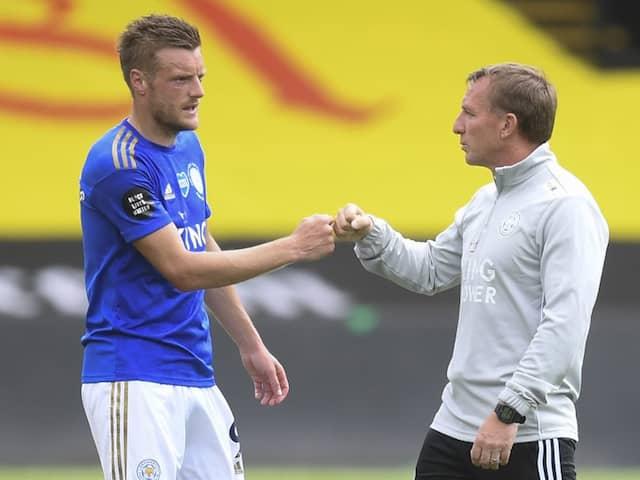 Brendan Rodgers Has Faith In Jamie Vardy Despite Goal Drought