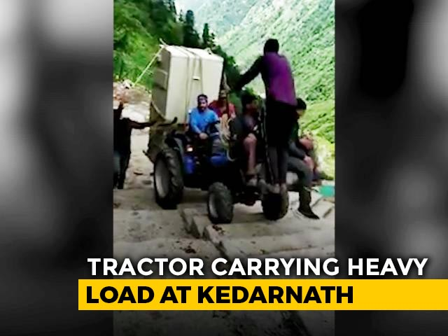 Video : Viral Video: Tractor Hauls Heavy Equipment Up Stairs At Kedarnath | NDTV Beeps