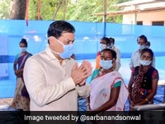Assam Chief Minister Visits Flood Relief Camp Near Kaziranga