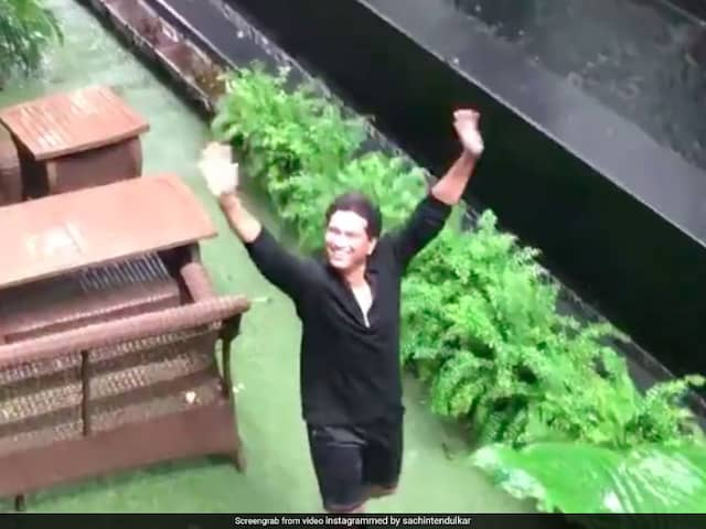 "Sachin Tendulkars ""Favourite Camerawoman"" Captures Him Enjoying Mumbai Rains. Watch"