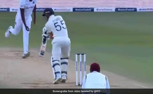 ENG vs WI 1st Test Jason Holder gets his opposite captain Ben Stokes number for the second time in the Test Watch Video