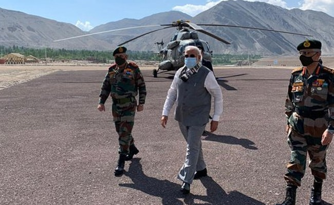 PM Visits Forward Post In Ladakh Days After Clash With China. See Pics