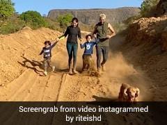 रितेश देशमुख बीवी और बच्चों का हाथ पकड़कर सुबह-सुबह दौड़ लगाते आए नजर, Video में डॉगी ने सबको पछाड़ा