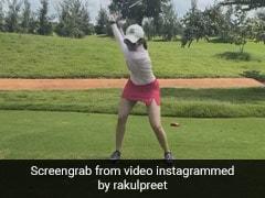 रकुल प्रीत सिंह ने लगातार 5 घंटे गर्मी में खेला गोल्फ, एक्ट्रेस की हो गई ऐसी हालत- देखें Photo और Video