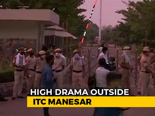 Video: Rajasthan Cops Enter Camp Pilot After Drama, Were Stopped By Haryana Cops