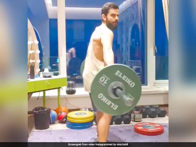 Kohli Posts Another Workout Video, This Time Doing His Favourite Exercise