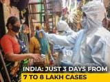 Video : Coronavirus Cases In India Rise From 7 To 8 Lakh In Three Days