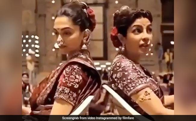 शूटिंग के दौरान Deepika Padukone ने खोया संतुलन तो Priyanka Chopra ने यूं थामा- देखें Video