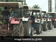 "Punjab Farmers Take Out ""Tractor March"" Against Centre's 3 New Ordinances"