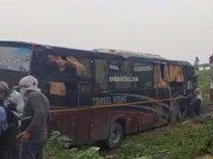 लखनऊ-आगरा एक्सप्रेस वे पर बिहार से दिल्ली आ रही बस और कार में टक्कर, 5 की मौत