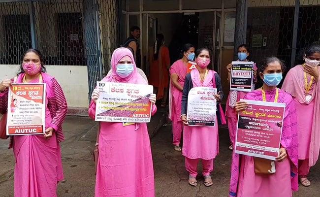 Coronavirus: Karnataka ASHA Workers On Strike, Demand Fixed Pay ...