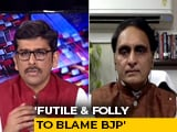 "Video : ""Futile And Folly To Blame BJP For Congress Rebellions"": BJP MP Rakesh Sinha"