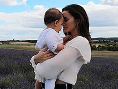 Actress Amy Jackson Shares Postcard-Worthy Pics With Son Andreas