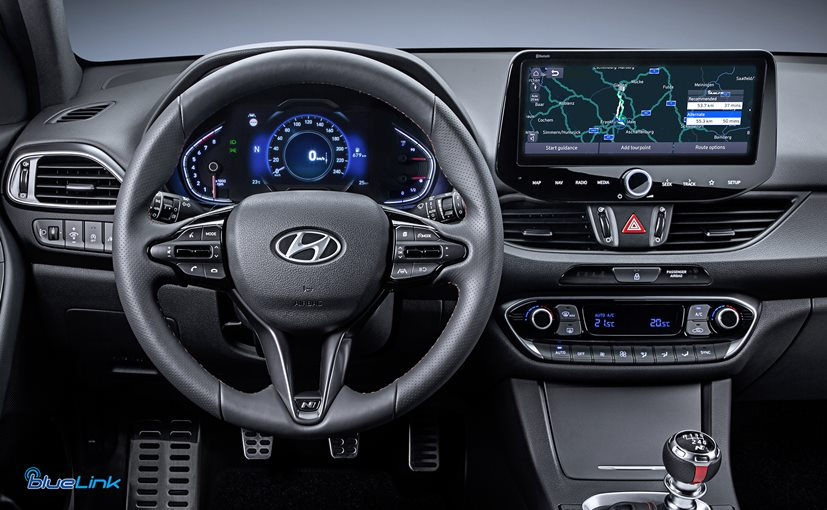 The new Hyundai i30 will be the first model to receive the upgraded BlueLink connected car system