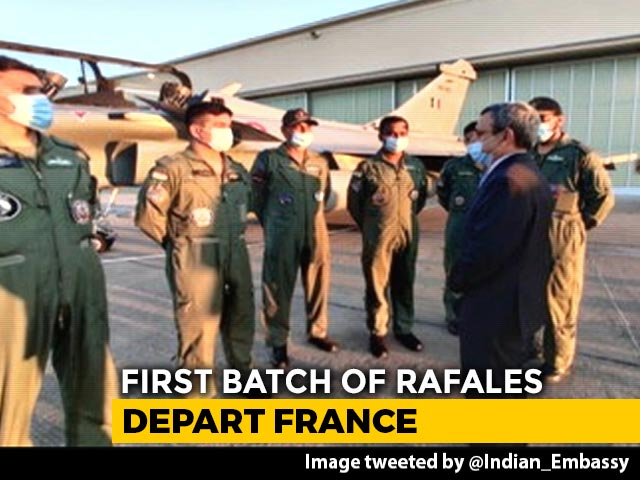 Video : First Batch Of Rafales Leaves France, Will Land In India on Wednesday