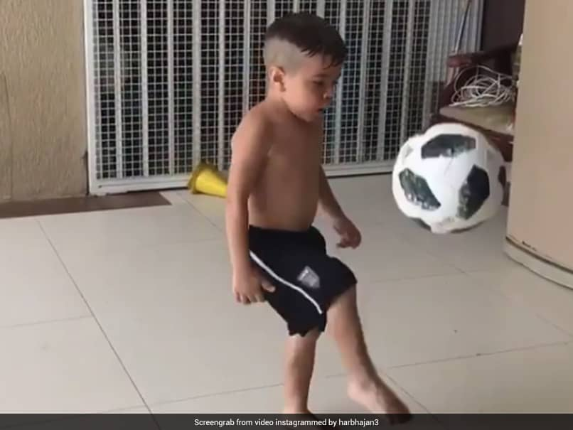 """""""Unbelievable"""": Harbhajan Singh Shares Video Of Young Boy Doing Kick-Ups. Watch"""