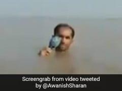 बाढ़ के पानी में उतरा पाकिस्तानी पत्रकार, IAS ने कहा - इसे कहते हैं जुनून - देखें Viral Video