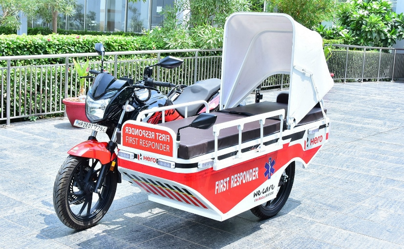 The first responder vehicles are based on the Hero Xtreme 200R