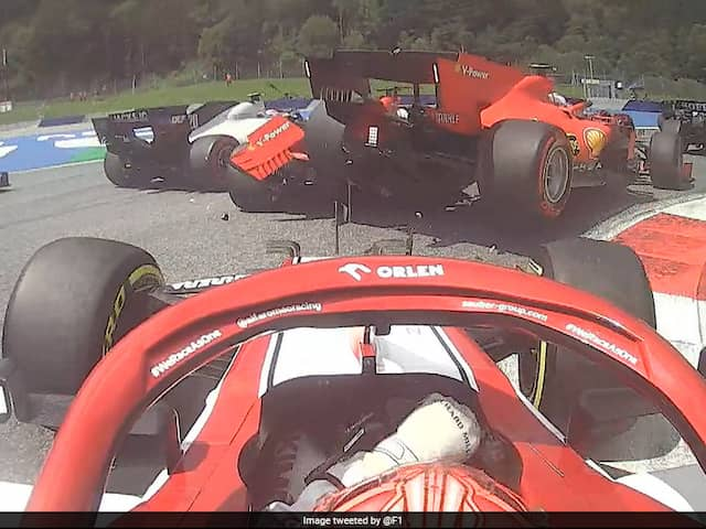 "Charles Leclerc Says ""Sorry"" As Collision With Sebastian Vettel Causes Double Ferrari Retirement"