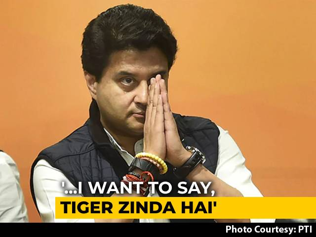 "Video : ""<i>Tiger Zinda Hai</i>"", Quips Jyotiraditya Scindia After Madhya Pradesh ""Win"""