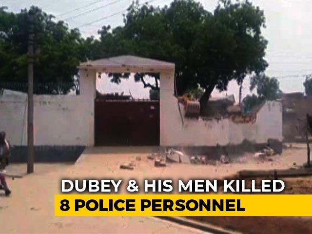 Video : House Belonging To UP Gangster Accused Of Killing 8 Cops Demolished