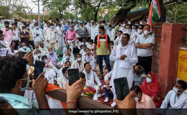 Congress Workers Stage Demonstrations Across Rajasthan Against BJP