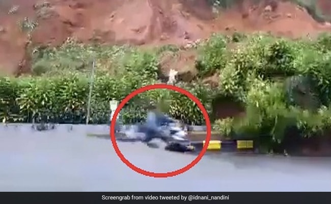 Caught On Camera: Man's Incredible Escape From Landslide