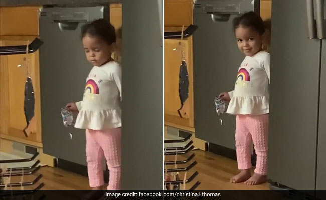 Girl Pretends To Sleep - Standing Up - When Caught Stealing Snacks. Watch