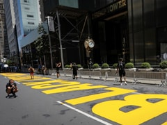 Trump Tower Gold Doorstep Now Reflects New York's Black Lives Matter Mural