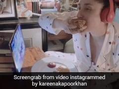 करीना कपूर आईपैड पर शो देखते हुए बड़े ही इतमिनान से खा रही थीं बर्गर, एक्ट्रेस का Video हो गया वायरल