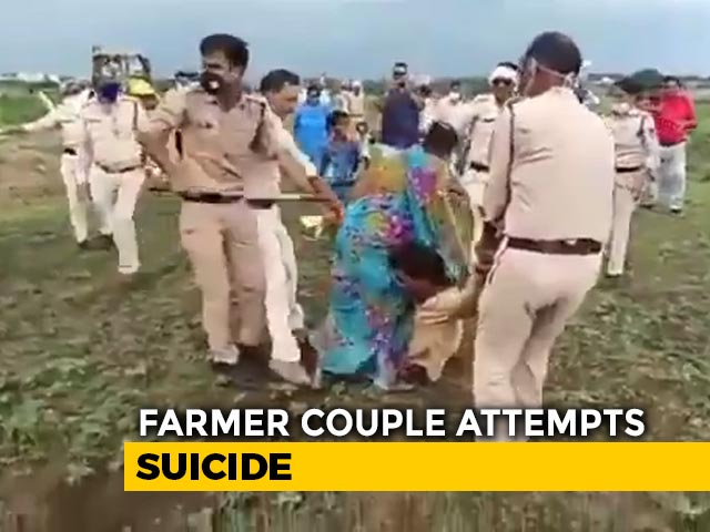 Video : Outrage Over Video Of Cops Assaulting Madhya Pradesh Farmer Couple