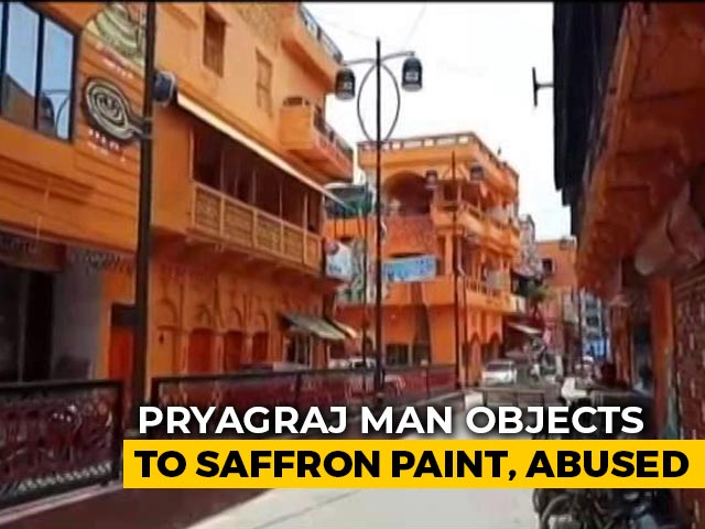 Video : Homes On Street Painted Saffron In UP City, Case Filed, Minister Defends