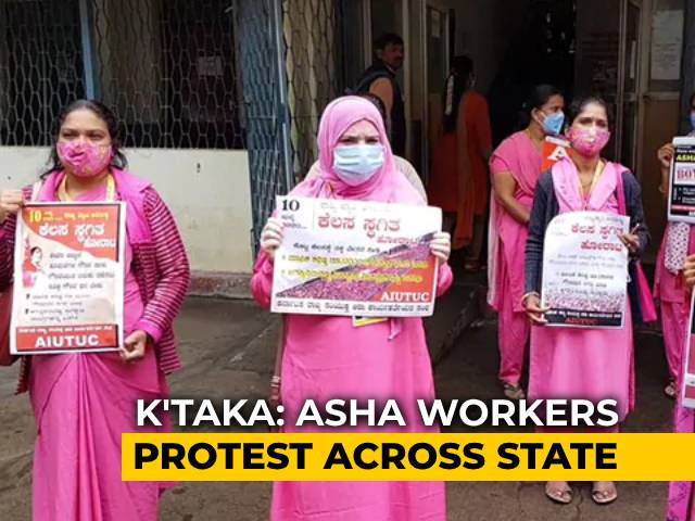 Video : Karnataka ASHA Workers On Strike, Demand Fixed Pay, PPEs Amid Pandemic