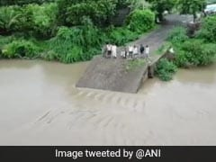 Dramatic Video Shows 30-Year-Old Gujarat Bridge Washed Away By Rain