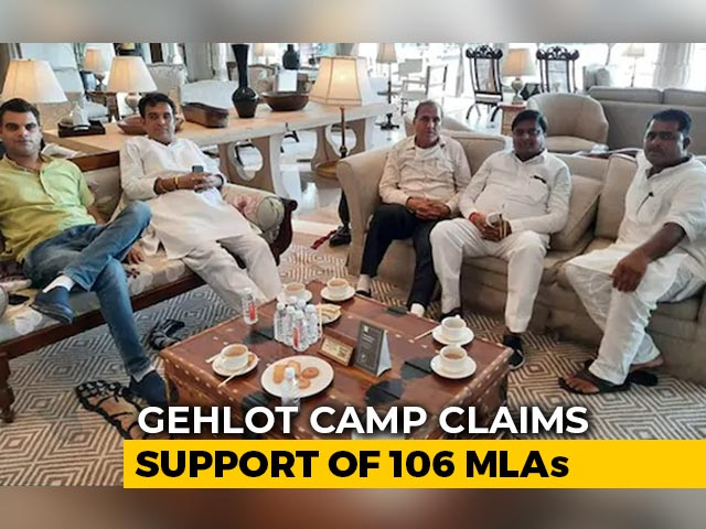 Video : Congress Calls Meet With Sachin Pilot, Ashok Gehlot Amid Crisis