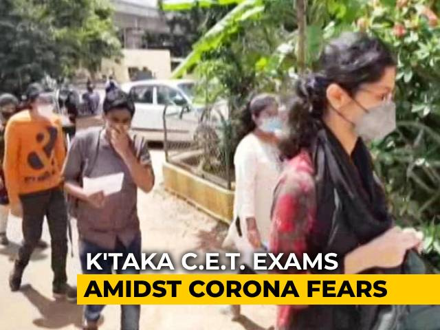 Video : Karnataka Conducts Common Entrance Test Amid Spiraling COVID-19 Cases