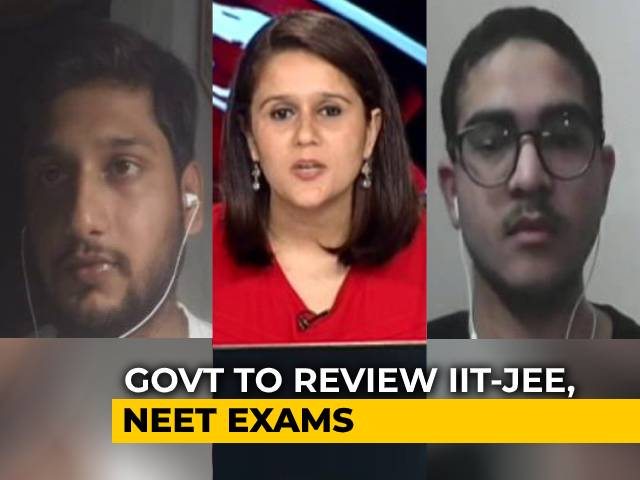 Video : Centre To Take Decision On IIT, NEET Exams This Month: Students Speak On The Matter