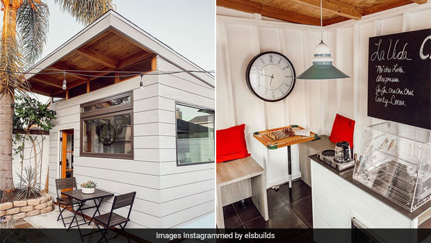 Dad Builds Cafe In Backyard In Just Three Months, Netizens Can't Get Enough