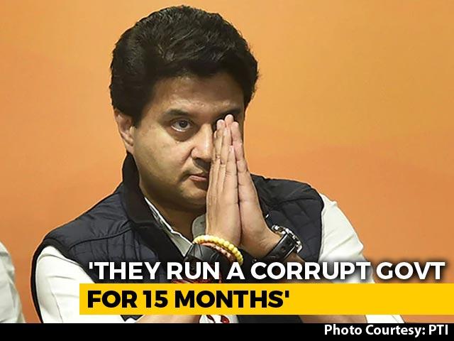"Video : Congress Ran Government Like A ""Business"": Jyotiraditya Scindia"