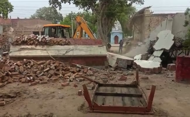 House Belonging To Vikas Dubey, UP Gangster Accused Of Killing 8 Cops, Demolished