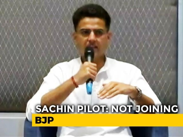 "Video : ""Not Joining BJP"": Sachin Pilot To NDTV Ahead Of Key Meet"