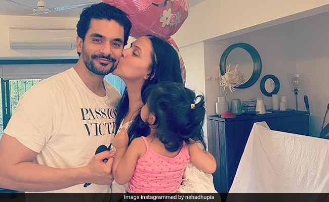 Neha Dhupia Posts Pic Of Angad Bedi And Daughter Mehr With ROFL Caption