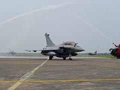 5 Rafales Land In Ambala, Greeted With Special Salute