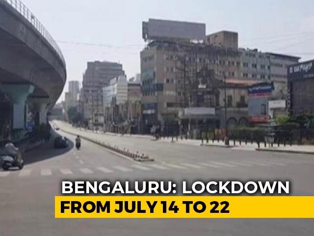 Video : Bengaluru Announces Lockdown From July 14 As COVID-19 Cases Rise