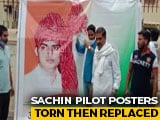 Video : Amid Congress's Rajasthan Crisis, Sachin Pilot Posters Torn Then Replaced