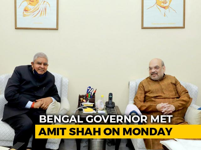"Video : Bengal Governor Meets Amit Shah To Discuss ""Worrisome Situation"" In State"