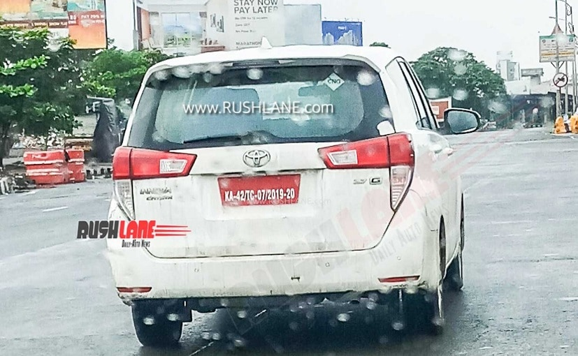 Toyota is testing a CNG variant of the Innova Crysta MPV in India