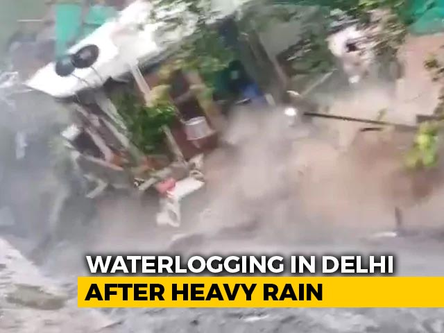 Video : Houses Crumble As Drain In Central Delhi Overflows After Heavy Rain