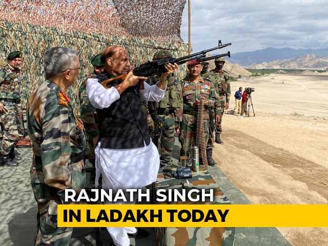 Video : Defence Minister Rajnath Singh Watches Military Exercises In Ladakh