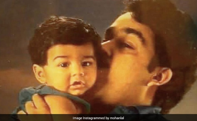 Here's How Superstar Mohanlal Wished Son Pranav On His Birthday